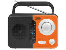 Trevi Retro Portable AM/FM Radio With Headphone Socket in Orange