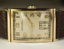 1940's Hamilton Gilbert 14K Gold 19J 982M Vintage American Watch *SERVICED*