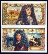 Kamberra, 50 Numismas, 2015, UNC   King Louis XIV of France commemorative