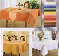 Tischdecke Damast Pflegeleicht Bügelfrei Eckig Rund Oval Unifarbe , Punktmuster