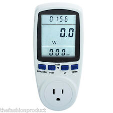 New! Power Meter Energy Consumption Watt Volt Electricity Usage Monitor Analyzer