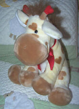 "Applause Russ Yellow Tan Stuffed Plush w Hearts Giraffe Animal Toy 49559 10"" EUC"