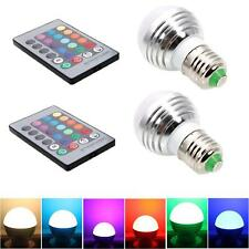 2Pcs E27 3W 85-265V Magic Bulb RGB Color Changing LED Light w/ IR Remote Control