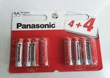8 x PANASONIC AA DOUBLE A BATTERIES BATTERY 1.5V R6 NEW £1.49 FREE POSTAGE