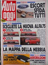 Auto OGGI n°208 1990 Nuova Alfa 75 - confronto Tipo 1.4 AGT Golf CL  [Q200]