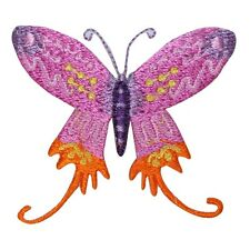 ID 2198 Butterfly Insect Embroidered Iron On Applique Patch