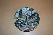 "Beautiful Miniature Arabia Finland Decorative Plate 27 ""Bears"""