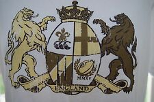 Canterbury Womens England Rugby Coat Of Arms T-Shirt White. Size 16. New.