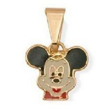 """Nuevo 9Ct Oro Lleno Niños/Niñas De Mickey Mouse Colgante y cadena de 16"""" PC2035"""