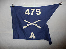 flag469 WW 2 US Army Guide on Merrills Marauders 475th Regiment A Company
