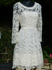 Monsoon Lolita Ivory Lace Dress Size 10 Wedding PROM Party Ball Cruise BNWT