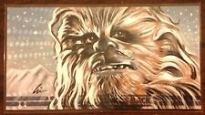 Topps Empire Strikes Back 30th Anniversary Chewbacca color sketch card 1/1