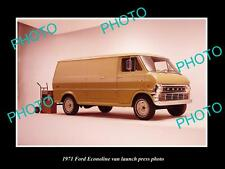 OLD LARGE HISTORIC PHOTO OF 1971 FORD ECONOLINE VAN LAUNCH PRESS PHOTO 2