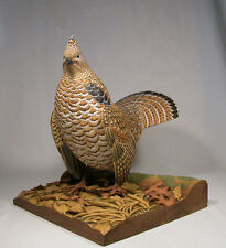 Ruffed Grouse Original Wood Bird Carving/Birdhug