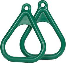 SWING SET STUFF PLASTIC TRAPEZE RINGS GREEN (PAIR) play accessory toy child 0005