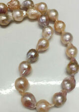 Long 24 Inches 12-15mm Natural South Sea Baroque Purple Akoya Pearl Necklace