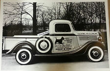 "12 By 18"" Black & White Picture Robert Ford Service Truck 1937 Pick up"