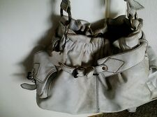 White distressed leather Xude handbag