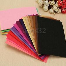"40 Mixed Colors Felt Sheets DIY Craft Supplies Polyester Wool Blend Fabric 6""x4"""