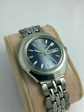 NOS Citizen vintage automatic blue dial watch new old stock, MINT 80's stock L2.