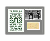 The Beatles Concert Poster and Autographs Memorabilia Poster 1963 John Lennon