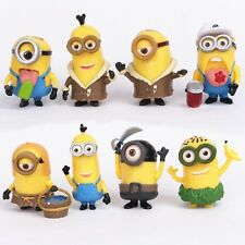 8 pcs Despicable Me Minion Figures Cake Topper (USA SELLER FAST SHIPPING)