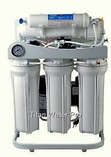 Reverse Osmosis Water Filter 5 Stage System 400 GPD-Booster Pump & Gauge PSI LC