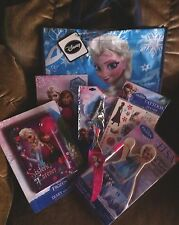 New Disney Frozen Elsa Anna Bundle Tote,Jewelry,Diary,Art,Tattoos,Hairband&More