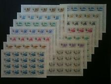 AJMAN - MNH Full Sheets in Complete Sets, Michel #127-140