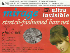 black brown very thin retro Jac-O-Net Mirage Invisible Hair Net