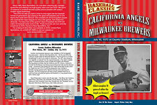 1972 Angels vs Brewers at old County Stadium, complete TV game on now DVD!