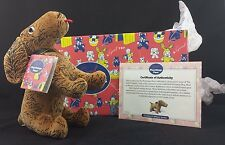 1999 Gund Playthings Past Velveteen Dog COA w/ Tags, Box and Tissue Paper NIB
