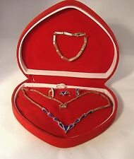 925 Sterling & Blue Lapis 4 Piece Set, Necklace, Bracelet, Ring  and EarrEceings