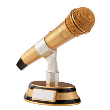 Dance/Music Trophies Resin Microphone Music Award 7 inch FREE Engraving