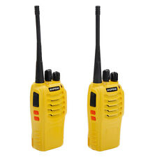 2 Pcs Baofeng BF-888S Long Range Walkie Talkie UHF 400-470MHZ 2-Way Radio Yellow