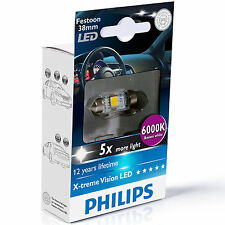 Philips Xtreme Vision Festoon LED Bulb C5W 6000K 38MM (Single Bulb)