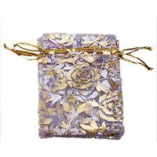 250pcs Wholesale Purple Organza Wedding Pouch Gift Bags Jewelery Pouch 7x9cm - C