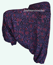 INDIAN BAGGY GYPSY HAREM PANTS YOGA MEN WOMEN STYLISH JALEBI PRINT TROUSERS js\