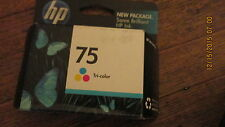 New Genuine HP CB337WN #75 Tri-Color Ink Cartridge - Sealed Retail Pak 2011EXP