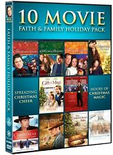 10 MOVIE FAITH & FAMILY HOLIDAY PACK New DVD Christmas Shoes Hope Box Choir