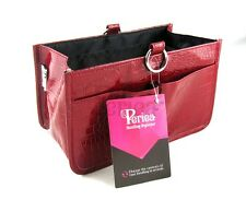 Periea Handbag Organiser, Organizer, Medium, Insert, 15 Pockets - Red - Claire