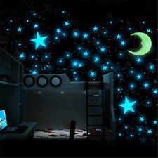 100X Luminous Stars Moon Stickers Glow In The Dark Bedroom Home Wall Room Decor