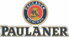 "Paulaner Beer Alcohol  Bumper sticker, wall , vinyl, bumper 5""x 2.6"""