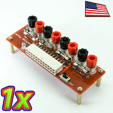 24Pin ATX Fused Computer Power Supply Adapter Screw Jack Breakout On Off Switch