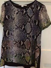 Stunning Designer DIANE von FURSTENBERG Silk Shirt Top Blouse Size 8