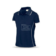 LADIES SLIM FIT NAVY COOL DRY SOFT FEEL WORK GYM OFFICE UNIFORM POLO SHIRT
