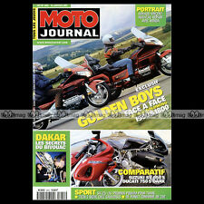 MOTO JOURNAL N°1455 HONDA GL 1800 1500 GOLDWING DUCATI 750 SUZUKI SV 650 S 2001