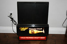 Miller beer sign lighted bar Genuine Draft cold filtered WITH CHALKBOARD