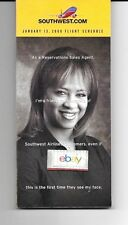 SOUTHWEST AIRLINES SYSTEM TIMETABLE 1-13-2008 ADALIAH HOLLEY RESERVATIONS COVER