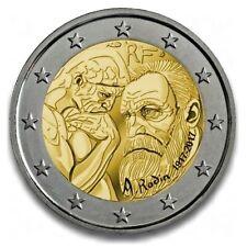 2 Euro Gedenkmünze/Sondermünze Frankreich 2017 100.Todestag Auguste Rodin